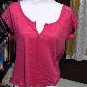 Rue 21 Hot pink tee XL